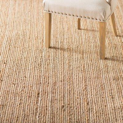 Latham Rigo Jute Hand-Woven Tan Area Rug Rug Size: Round 8'