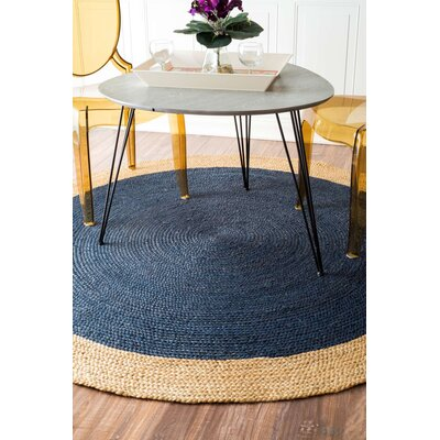 Meister Hand-tufted Graphite Area Rug Rug Size: Round 4