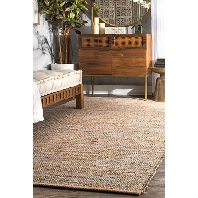 Trumbull Hand-Woven Silver Area Rug Rug Size: Rectangle 76 x 96