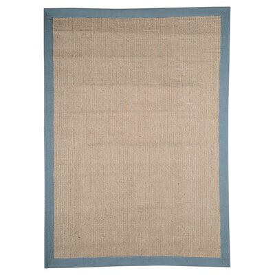 Nobleton Hand-Loomed Beige/Light Blue Area Rug Rug Size: 5 x 8