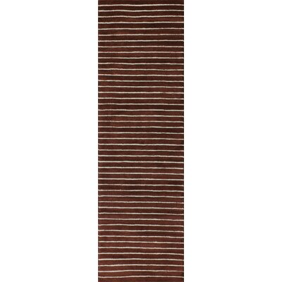 Grayville Hand Woven Wool Red Area Rug Rug Size: Runner 2'6