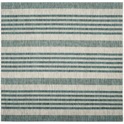 Rosecroft Gray/Blue Indoor/Outdoor Area Rug Rug Size: Square 67