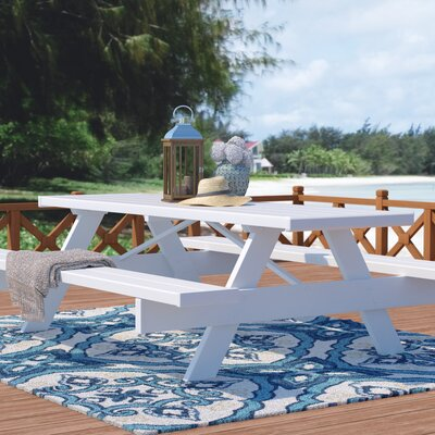 Windermere Picnic Table Table Size: 28 W x 72 D