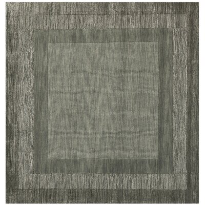 Crooked Lake Park Dark Gray Area Rug Rug Size: Square 6