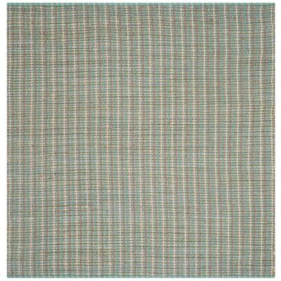Abia Hand-Woven Green Area Rug Rug Size: Square 6