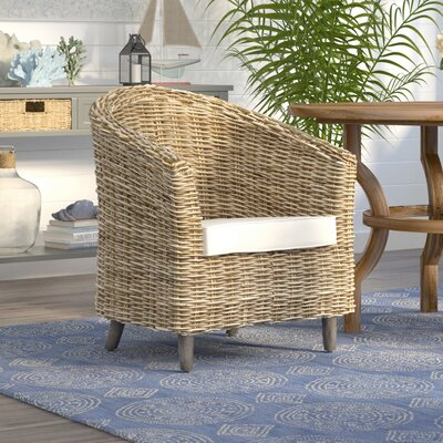 Biscayne Barrel Chair Finish: Natural