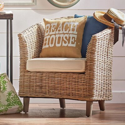Biscayne Barrel Chair Finish: Brown