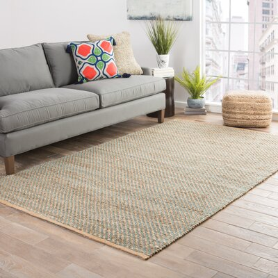 Ina Hand-Woven Beige Area Rug Rug Size: Rectangle 8 x 10