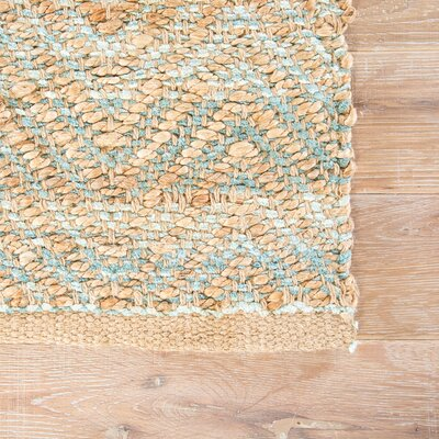 Ina Jute and Rayon Brown Naturals Area Rug Rug Size: 36 x 56