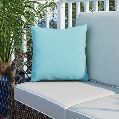 Murrayville Outdoor Throw Pillow Size: 16 H x 16 W x 4 D, Color: Aqua
