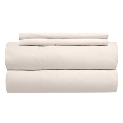 Sint 310 Thread Count Solid 100% Cotton Sheet Set Size: Queen, Color: Shell
