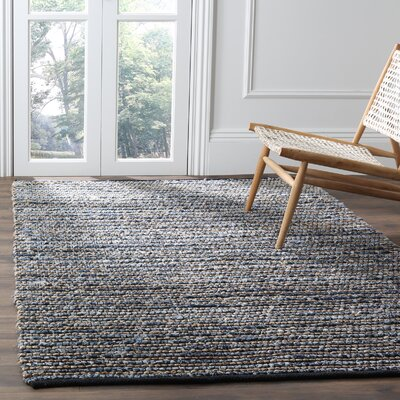 Abia Dark Blue Area Rug Rug Size: Rectangle 9 x 12