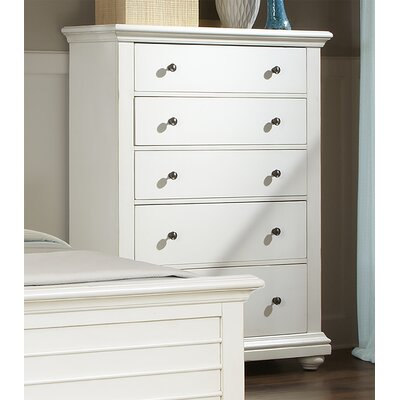 Galsworthy 5 Drawer Chest Color: Antique White