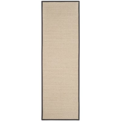 Morfou Natural/Dark Gray Area Rug Rug Size: Runner 26 x 8