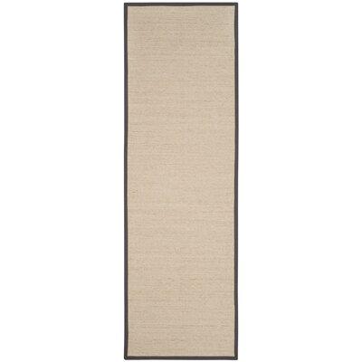 Morfou Natural/Dark Gray Area Rug Rug Size: Runner 26 x 8