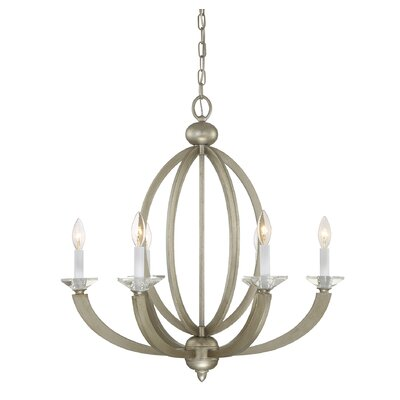 Georgetown 6-Light Candle-Style Chandelier Finish: Silver Sparkle
