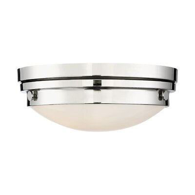 Aralene 2-Light Flush Mount Color: Polished Nickel