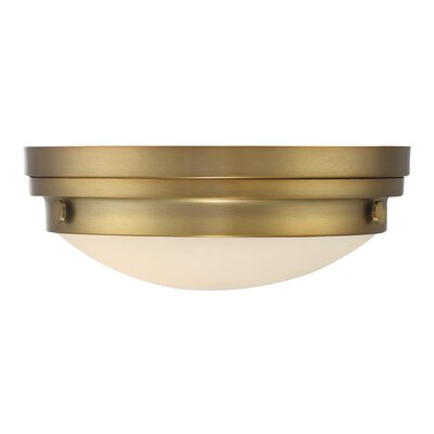 Aralene 2-Light Flush Mount Finish: Warm Brass