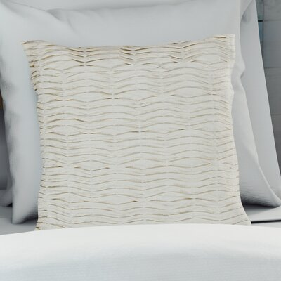 Elliott Solid Cotton Throw Pillow Color: Ivory/White