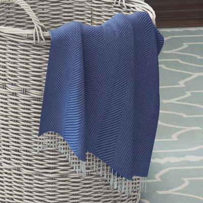 Alachua Cotton Throw Blanket Color: Cayan
