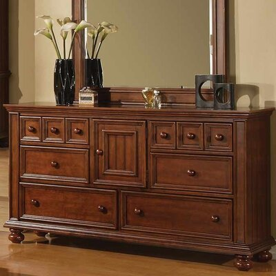 Miami Springs 6 Drawer Standard Dresser Color: Chocolate