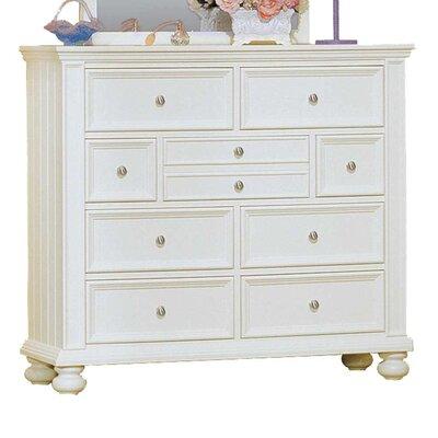 Miami Springs 9 Drawer Standard Dresser Color: White