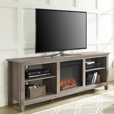 Sunbury 70 TV Stand with optional Fireplace Color: Ash Gray, Fireplace Included: Yes