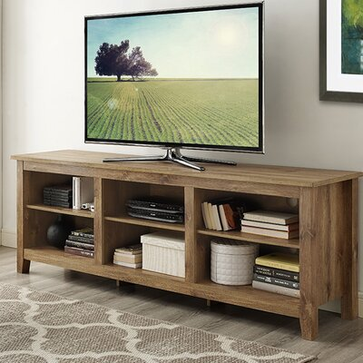 Sunbury 70 TV Stand with optional Fireplace Color: Barnwood, Fireplace Included: No