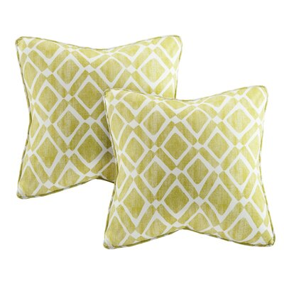 Annagrove Throw Pillow Color: Green