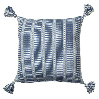 Kentfield Reversible Throw Pillow Color: Blue/Cream