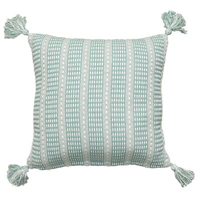 Kentfield Reversible Throw Pillow Color: Teal/Cream