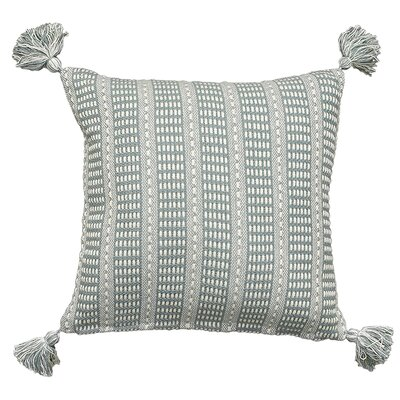 Kentfield Reversible Throw Pillow Color: Gray/Cream