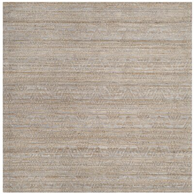 Aderyn Hand-woven Gray/Sand Area Rug Rug Size: Square 6