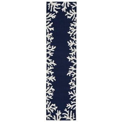 Claycomb Hand-Tufted Navy Indoor/Outdoor Area Rug Rug Size: Runner 2 x 8
