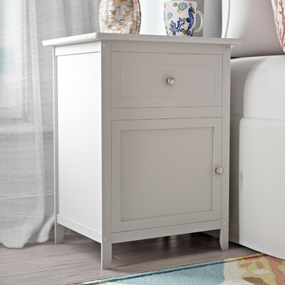 Gallinas 1 Drawer Nightstand Color: White