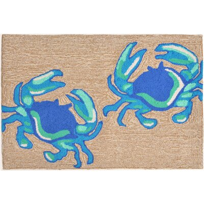 Anchoretta Hand-Tufted Blue Indoor/Outdoor Area Rug Rug Size: Rectangle 18 x 26