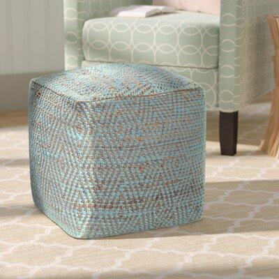 Federalsburg Pouf Ottoman Upholstery: Aqua