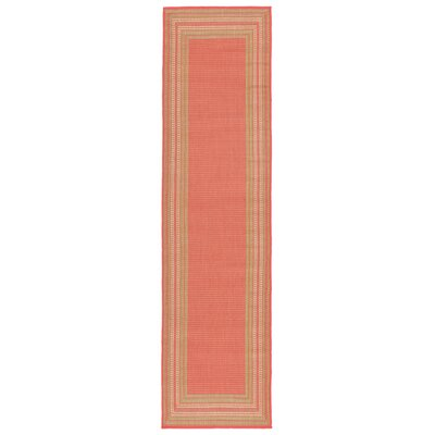 Clatterbuck Etched Pink Indoor/Outdoor Area Rug Rug Size: Runner 111 x 76