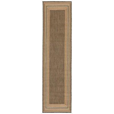 Clatterbuck Etched Gray Indoor/Outdoor Area Rug Rug Size: Runner 111 x 76