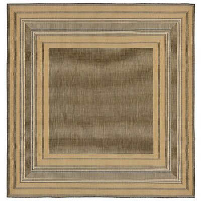 Clatterbuck Etched Gray Indoor/Outdoor Area Rug Rug Size: Square 710