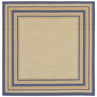 Clatterbuck Border Neutral Indoor/Outdoor Area Rug Rug Size: Square 710