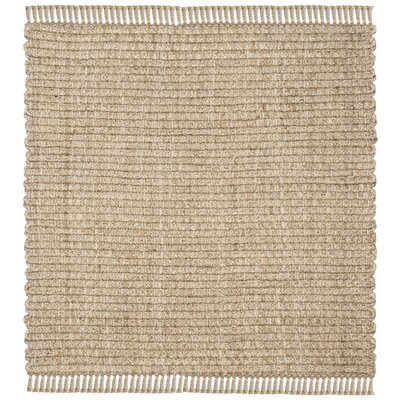 Myrtou Hand-Loomed Natural Area Rug Rug Size: Square 6