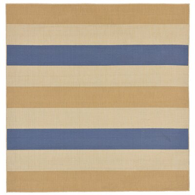 Larana Stripe Beige/Blue Indoor/Outdoor Area Rug Rug Size: Square 710