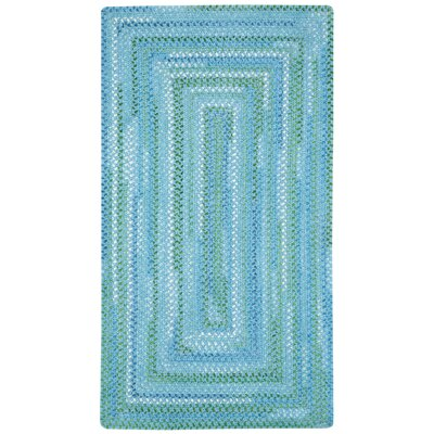 Clearview Blue Area Rug Rug Size: Concentric 7 x 9