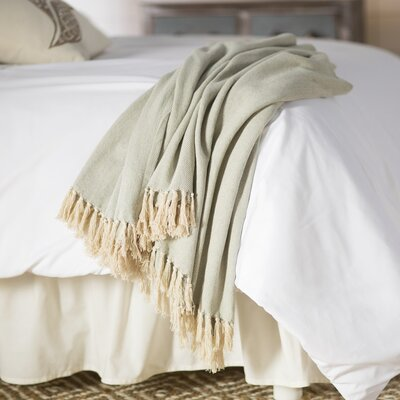 Panama City Beaches Cotton Throw Blanket Color: Iguana / Birch