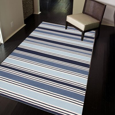 Lavoie Hand Woven Wool Blue/Ivory Area Rug