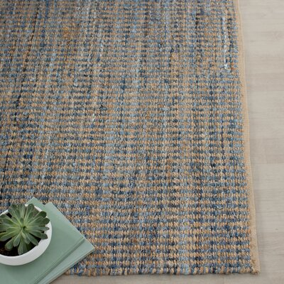 Gilchrist Natural/Blue Area Rug Rug Size: 4 x 6