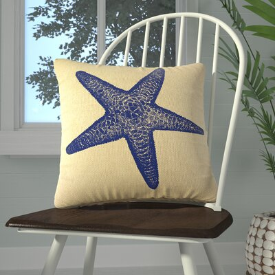 Winchester Burlap Throw Pillow Color: Navy
