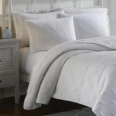Jessa 3 Piece Quilt Set Color: White, Size: King