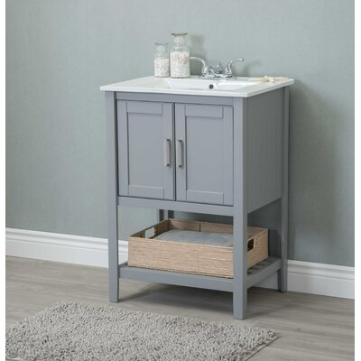 Tamecca 24 Single Bathroom Vanity Set Base Finish: Gray